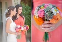 Bridesmaid's Colours / To Show You Dress and Flower Combinations