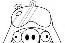 Angry birds coloring book / Angry birds coloring pages