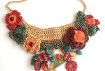 bijou al crochet / collares, anillos , pulseras y accesorios del cabello al crochet