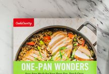 One-Pan Wonders / When you think about cooking dinner, multiple pots and pans and a lot of multitasking (and cleanup) are probably quick to come to mind. Even a seemingly simple meal of chicken and a vegetable can call on using the stovetop and oven, plus one pan for the chicken and another for the side dish. This fresh, modern collection of more than 140 recipes makes the most of your skillet, sheet pan, Dutch oven, casserole, roasting pan, or slow cooker to deliver dinner with a minimum of fuss.