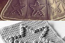 háčkované vzorky na deky