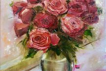 Painting oil / Painting oil flowers, Painting oil landckapes