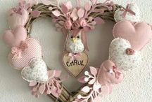Shabby chic: decor, wreaths