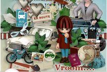 CT Scrap From France / Pages de scrap digital réalisées avec les collabs de Scrap From France