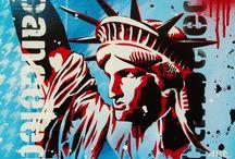 Stencil and graffiti