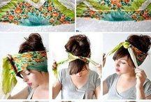 スカーフアレンジヘア