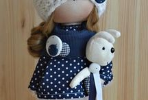 Куколки в наличии / ПРОДАЕТСЯ  5 000 руб Интерьерная текстильная куколка.  Рост 30 см. Сама стоит и сидит.  Одежда не снимается.