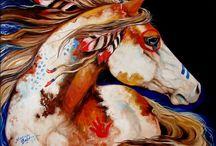 Indiánské koně a indiáni