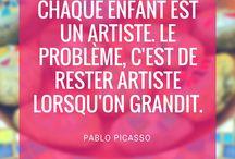 Citations Créatives / Des citations inspirantes sur la créativité et les loisirs. Profitez-bien !