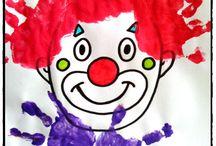 Cirque et carnaval / bricolages autour du cirque et du carnaval, déguisements, masques, clowns, mardi gras