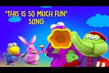 MangoKids for Children / Dragon cartoons for kids: funny 3D cartoon video animation for children HD with sing along rhyme. sing along with friends Annie, Bunny and Crow Dibo swing dance teaching the Kids / Children.