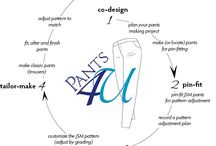 Fitting Pants 4U Master Course / 1,2,3,4... *co-design, pin-fit, custom-grade and tailor-make*  Follow these 4 steps in sequence to make beautiful pants that fit with a pattern to match. Course is designed to train master pantsmakers in how to fit pants. Go to courses.sccanda.com to enroll.