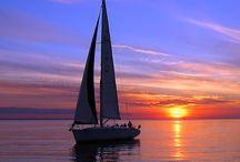Boten, schepen en de zee