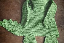 Crocheted baby security blankes and ragdolls