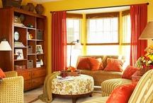 Warm cozy winter rooms