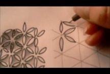 Zentangle tutorials / Videa - návod kreslení vzorů