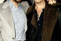 "Julian Lennon and Sean Lennon (Julian said ""i love my brother Sean"")"