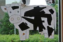 La vache /  Noir et blanc tps