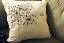 I have a pillow problem... / by Carrie Taylor