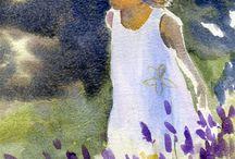 Art-Acryl-Aquarell-Öl / Zeichnungen und Malerei