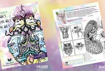 Coloring Books by Lana Chromium - Fantasy Art to color