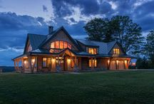 Exterior Inspiration / Beautiful timber-home exteriors. / by Timber Home Living