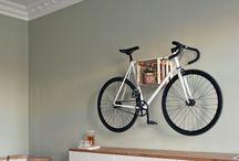 Fahrrad an wand