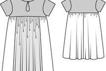 PPC - Coupe empire / La taille empire se situe juste en-dessous de la poitrine. On la retrouve dans la robe Empire. C'est l'impératrice Joséphine qui lança la mode de la robe Empire, et de sa taille si spécifique, sous le 1er Empire, d'où son nom. Parfaite pour cacher quelques rondeurs, la taille empire est aussi féminine que confortable