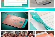 Coral and Teal Wedding Ideas from eInvite.com / Coral and Teal color combinations are a big trend right now. Here are some ideas to inspire you.