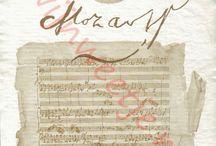 Wine labels of composers./Wijnetiketten van componisten.