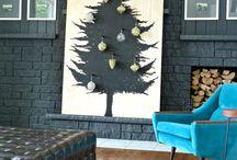 Alternative Christmas tree and decor / Creative modern Christmas ideas, Christmas tree, decoration, tabletops, DIY modern Christmas decor