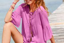 Blouses et tuniques / Le meilleur des blouses et tuniques Blancheporte collection printemps-été 2016.  http://www.blancheporte.fr/b/vetement-femme/chemisier-tunique-femme/blouse.html