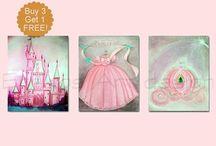 Princess Nursery, Princess Decor, Princess Wall Art / Kids Nursery Wall Art Prints of my Original Artwork Check out my etsy shop: http://www.etsy.com/shop/handpainting?ref=si_shop