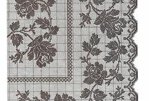 Скатерти / Схема вышивка счетным крестом