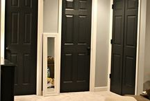 Inside painted door ideas
