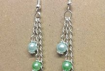 Three Chain and Pearl Earrings / www.kinleysdesigns.com