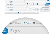 web top page menu design