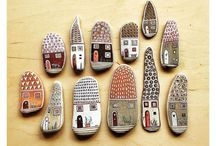 Individual painted pebbles