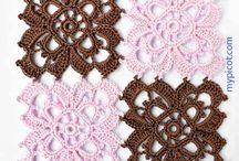 Crochet  motifs / Elementy wykonywane na szydełku o różnych kształtach i wzorach, które mogą być ze sobą łączone