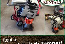 Tampers / We have a variety of compaction equipment: Hand Tampers, Rammer - Gas Powered, & Vibratory Plate Tampers (Reversible). Call: 570-366-1071 for Prices & Details! Email: Info@arkrentals.com