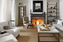 Fireplaces | Living Space / Fireplaces add so much to a room. Whether you use your fire place just for warmth, or for extra storage space - mantles come in a lot of handy!