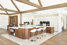 Painted and Walnut / This modern extension to a listed property resulted in this truly fabulous kitchen. Glamorous, practical - yet will not date or age over time.