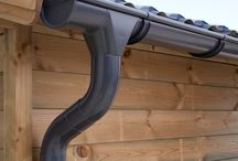 Zinc Guttering | Anthracite / Zinc guttering provides the best protection from water damage for your shed/ summer house or log cabin. Now you can immediately drain or collect rainwater in, for example, a water butt. Our zinc guttering is available in titanium zinc and galvanised.