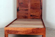 Beds / King, Queen, Twin Beds made from live edge,  walnut, pecan, oak, steel