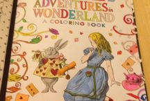 Alice in Wonderland Coloring Book / Pictures That I Have Colored in This Book