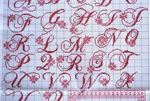 Alfabet borduur patronen