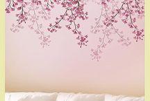 duvar şablonları ve boyama