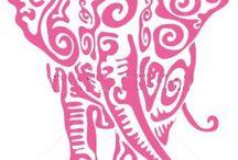 Decoupage / Elephant