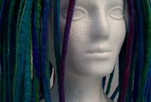 Dreadlocks/ Chemo Hat / How to Make a Dreadlock Hat for a Chemo Patient. Wet Felting Tutorials.
