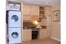 Don't hide your laundry room. / So many people hide their laundry room.  So many ways to make it look like it is part of your beautiful home.